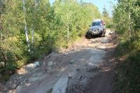 Дорога до гранитного карьера вполне нормальная, если RAFA4 не жалко, то можно даже на нем 14 августа 2012г